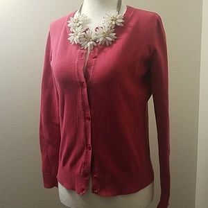 TALBOTS Charming Cardigan in Red Berry